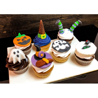 Trick or Treat Cup Cakes